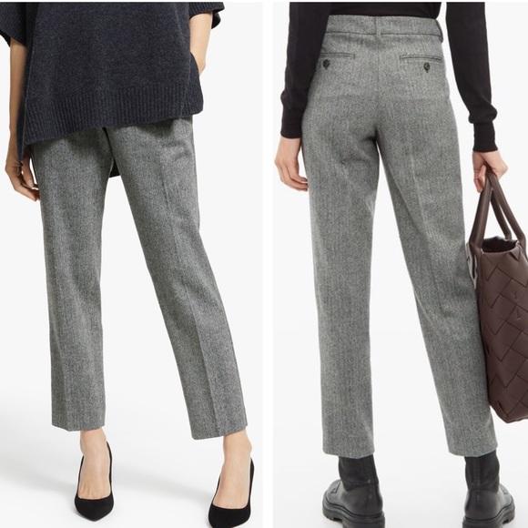 MaxMara Pants - MaxMara Campale Trousers Herringbone Wool Pants 10